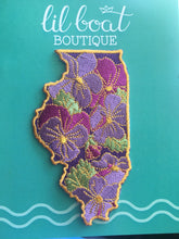 Illinois Violet - State Flower Embroidered Patch