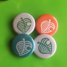 "AC New Horizons Leaf Buttons - 1.25"" - Multiple Colors"