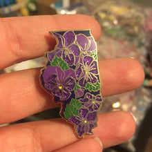 Limited GLITTER - Illinois Violet - State Flower Hard Enamel Pin