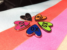 xo Heart - Multiple Colors - Mini Board Filler pins - Hard Enamel Pin