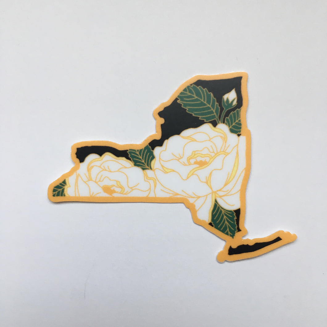 New York Rose - Vinyl Sticker