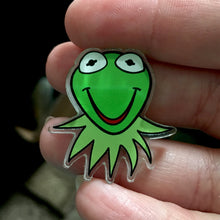 "Kermit head - Acrylic Pin - from ""We'll Find It"" design- PATREON REWARD EXTRA"
