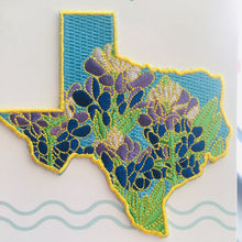 Texas Bluebonnet - State Flower Embroidered Patch - State Flower Series