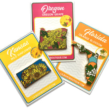 Florida Orange Blossom Enamel Pin - State Flower Series FL