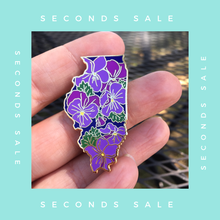 SECONDS SALE PIN - Illinois Violet State Flower Hard Enamel Pin