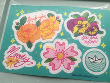 "Moody Flowers 4x6"" Vinyl Sticker Sheet - Black Friday Release"