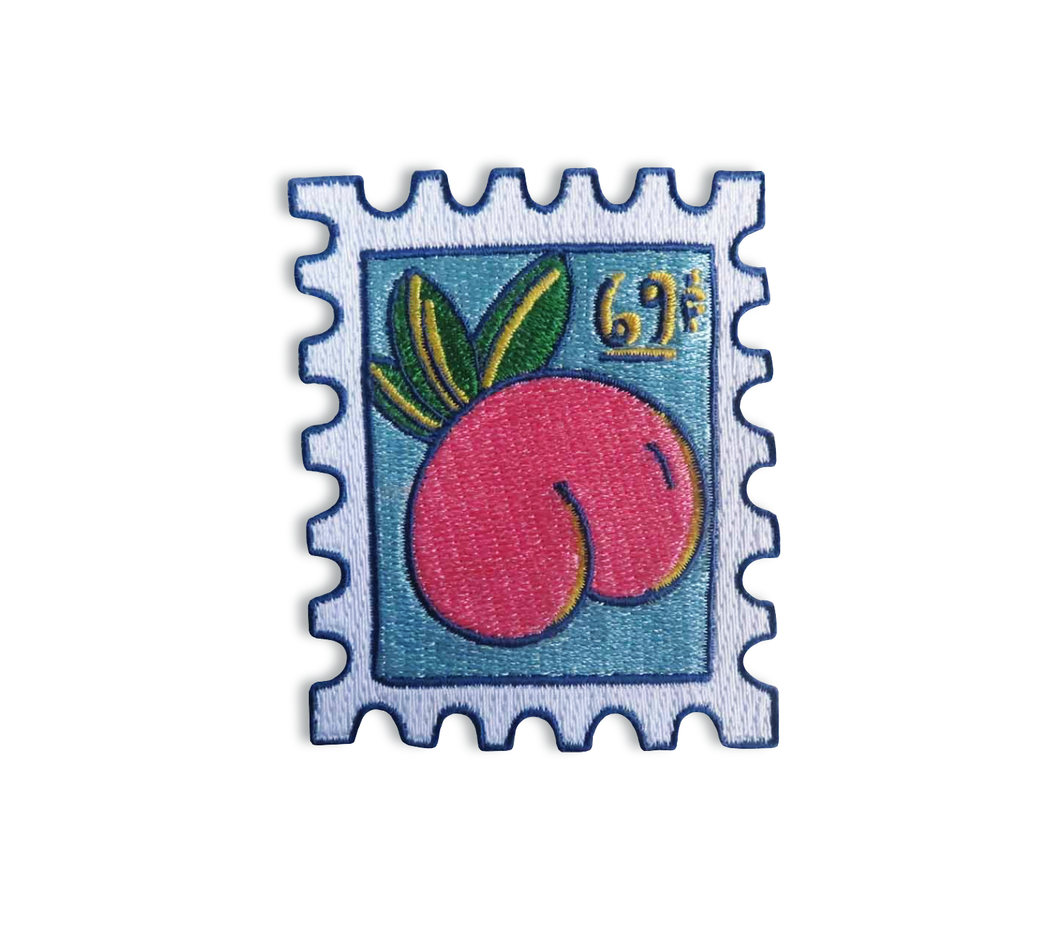 Peach Stamp - Embroidered Patch - Save The USPS - 69c