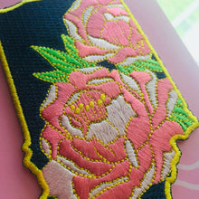 Indiana Peony - State Flower Embroidered Patch