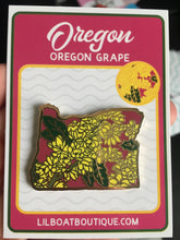 Oregon Grape Enamel Pin - State Flower Series OR