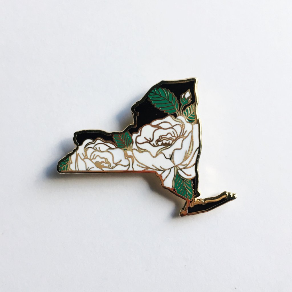 New York Rose - State Flower Hard Enamel Pin
