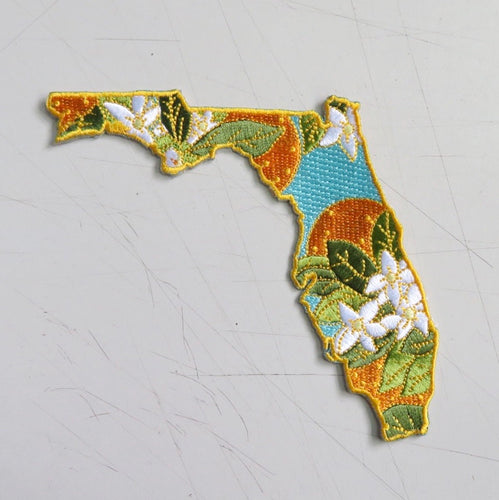 Florida Orange Blossom - Fifty State Flower Series Patch - State Embroidered Patch