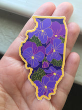 Illinois Violet - State Flower Hard Enamel Pin