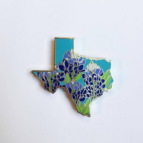 Texas Bluebonnet - State Flower Hard Enamel Pin