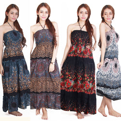 Boho Maxi Dress, Hippie Maxi Dress, Gypsy Dress - ZG INDUSTRIES LLC
