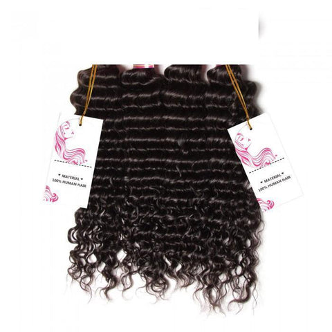 Brazilian Deep Wave Human Virgin Hair 4 Bundles- 10A - HARRY BELLA