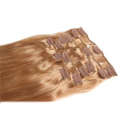 #27 Platium Blonde Clip In Hair Virgin Hair Extensions 8Pcs/set 8A - HARRY BELLA