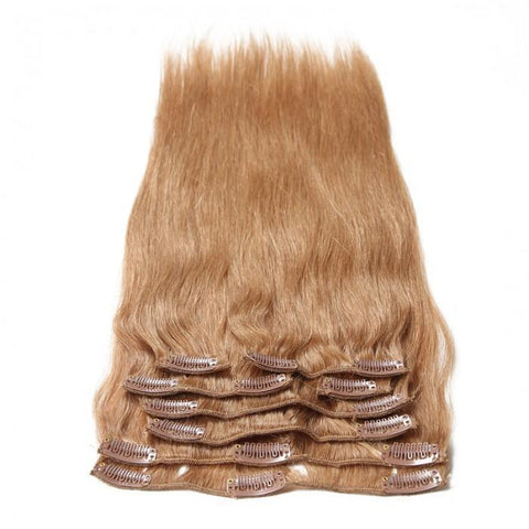 #27 Platium Blonde Clip In Hair Virgin Hair Extensions 8Pcs/set- 10A - HARRY BELLA