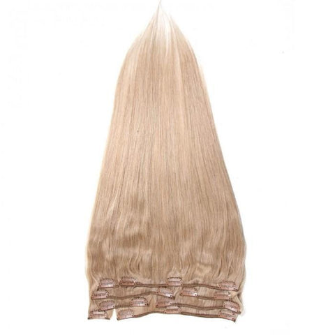 Clip In Indian 100g Human Virgin Hair Straight 8A - HARRY BELLA