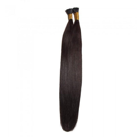 Malaysian 100g Straight Keratin I Tip Human Hair Extensions 1 g/s 8A - HARRY BELLA