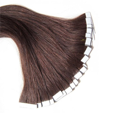 Brazilian Straight 50g PU Tape Skin Weft Human Hair Extensions 10A - HARRY BELLA