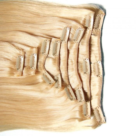 Brazilian Straight Virgin Blonde Clip In Hair Extensions 10A - HARRY BELLA