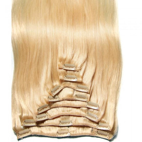 Peruvian Straight Virgin Hair Clip in Hair Extensions 10A - HARRY BELLA