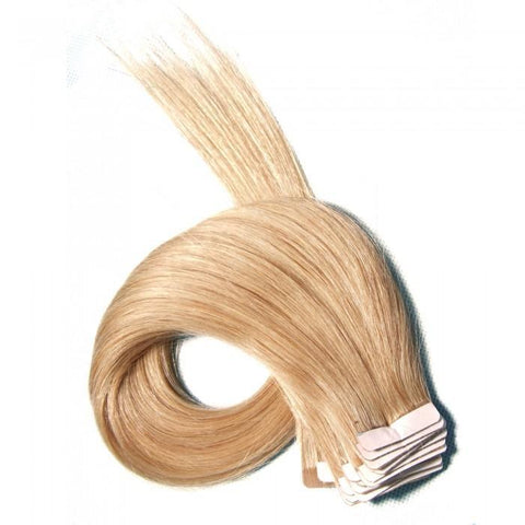 Blonde Malaysian PU Hair 50g Wefts Human Virgin Hair Straight 10A - HARRY BELLA