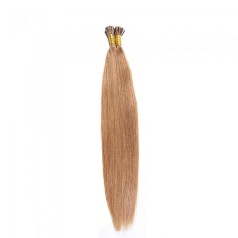 Indian 50g I Tip Straight Human Hair Extensions 0.5 g/s 8A - HARRY BELLA