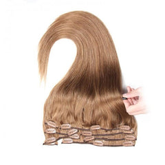 Peruvian 80g Clip In Human Hair Extensions 8A