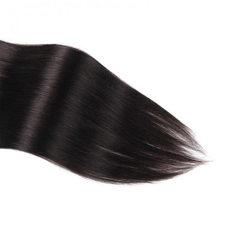 100g #1B Natural Black Clip In Human Hair Extensions Virgin Hair 8Pcs/set 10A - HARRY BELLA