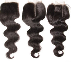 4 Bundles Indian Body Wave Hair Weft With Closure 8A