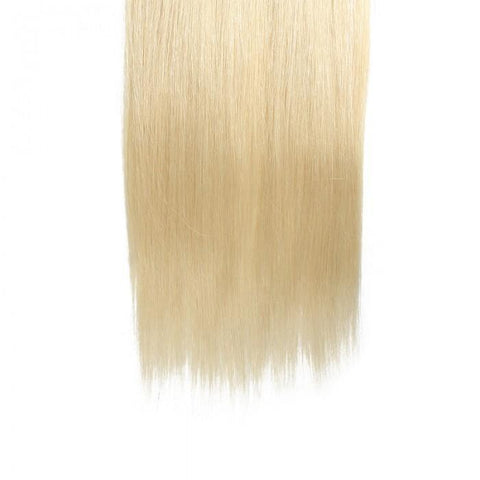 100g #613 Lightest Blonde Clip In Hair Extensions Cheap Virgin Hair Extensions 8Pcs/set 10A - HARRY BELLA