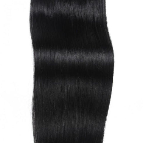 100g #1 Jet Black Clip In Hair Extensions Virgin Hair 8Pcs/set- 10A - HARRY BELLA