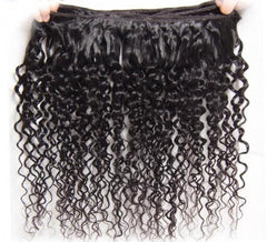 4Pcs Malaysian Jerry Curly Hair Weft With Closure 10A
