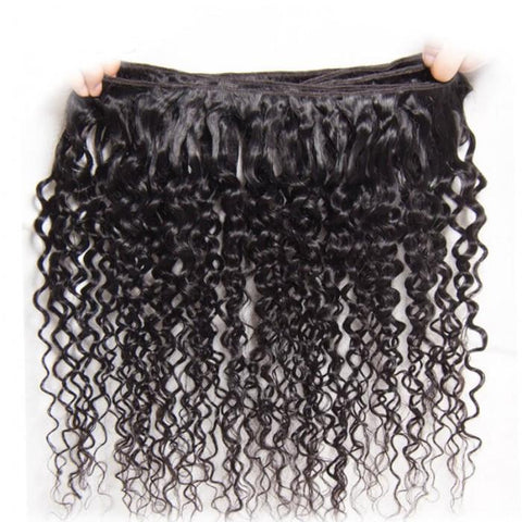 4Pcs Malaysian Jerry Curly Hair Weft With Closure- 10A - HARRY BELLA