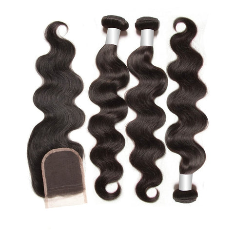 3 Body Wave Bundles + Closure 10A - HARRY BELLA