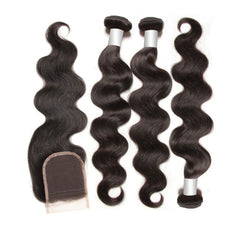 3 Loose Wave Bundles + Closure 8A - HARRY BELLA