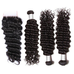 3 Deep Wave Bundles + Closure 10A - HARRY BELLA
