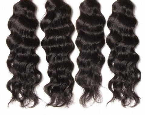 Virgin Indian Hair Natural Wave 4pcs/pack Human Hair Weft 10A - HARRY BELLA