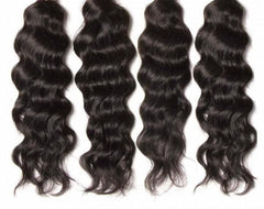 Virgin Indian Hair Natural Wave 4pcs/pack Human Hair Weft 10A