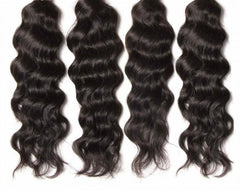 Virgin Indian Hair Natural Wave 4pcs/pack Human Hair Weft 8A
