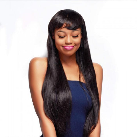 3 Bundles Peruvian Straight Hair Weft With Closure 8A - HARRY BELLA