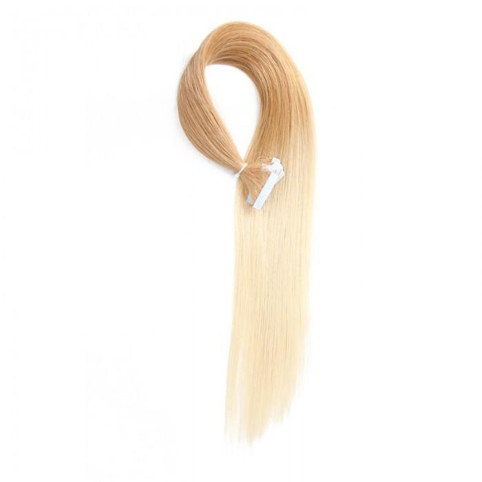20pcs 50g Ombre Straight Tape In Hair Extensions T27 613 100 Virgin