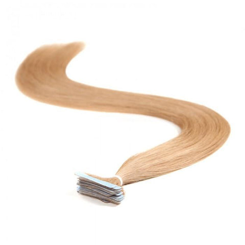 20pcs 50g Straight Tape In Hair Extensions #27 Strawberry Blonde 100% Virgin Hair 10A - HARRY BELLA