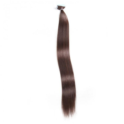 20pcs 50g Straight Tape In Hair Extensions #2 Dark Brown 100% Virgin Hair 10A - HARRY BELLA