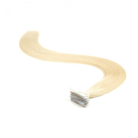 20pcs 50g Straight Tape In Hair Extensions #613 Lightest Blonde 100% Virgin Hair 8A - HARRY BELLA