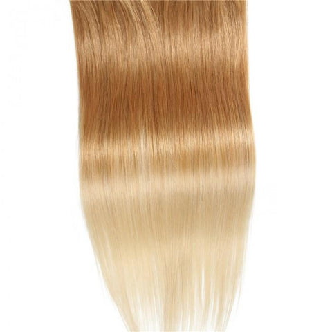 8 Pieces Full Head Clip in Hair Extensions Ombre Brown Blonde 10A - HARRY BELLA