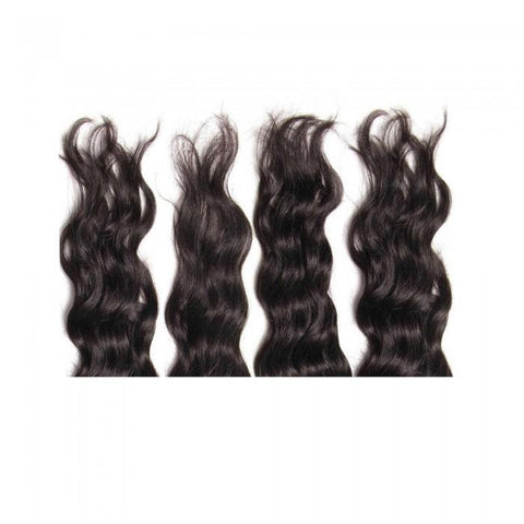 Virgin Indian Hair Natural Wave 4pcs/pack Human Hair Weft 8A - HARRY BELLA