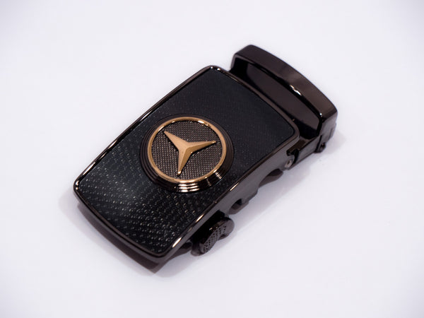 Gold Mercedes Black Studded on Black Pattern