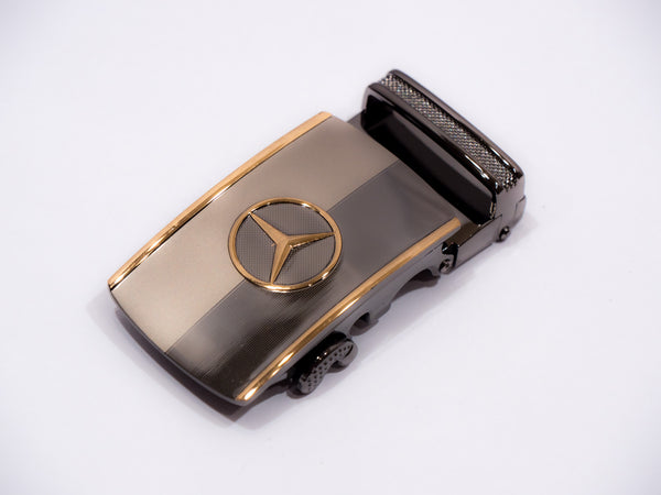 Gold Mercedes on Steel and Charcoal